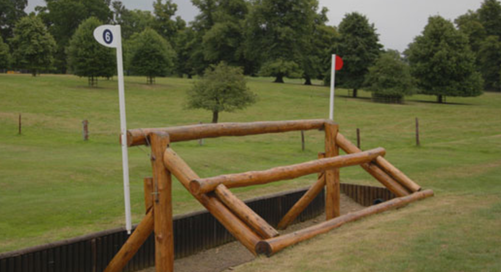 Elephant trap cross country fence