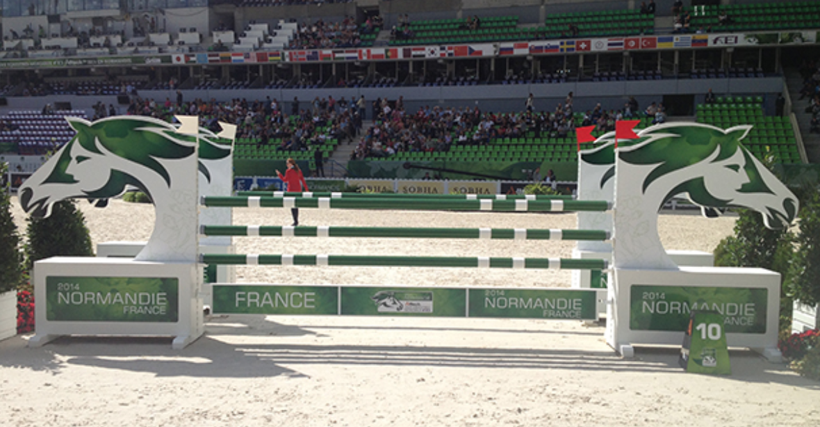 show jumping visual challenge